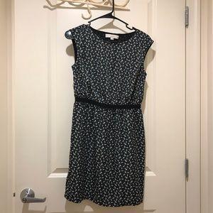 LOFT floral sleeveless dress, small petite